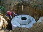 Копка выгребной ямы для туалета. Погреб «под ключ». Рытьё траншей.