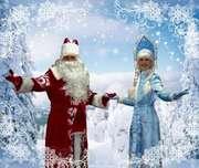 Выезд Снегурочки и Деда Мороза.